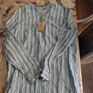 Faherty long sleeve shirt dress